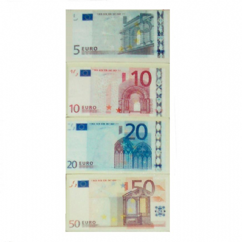 12 x EURO Note Money Novelty Erasers Realistic 5 10 20 & 50 Notes (Sets of 4) 48 Wholesale Bulk Buy